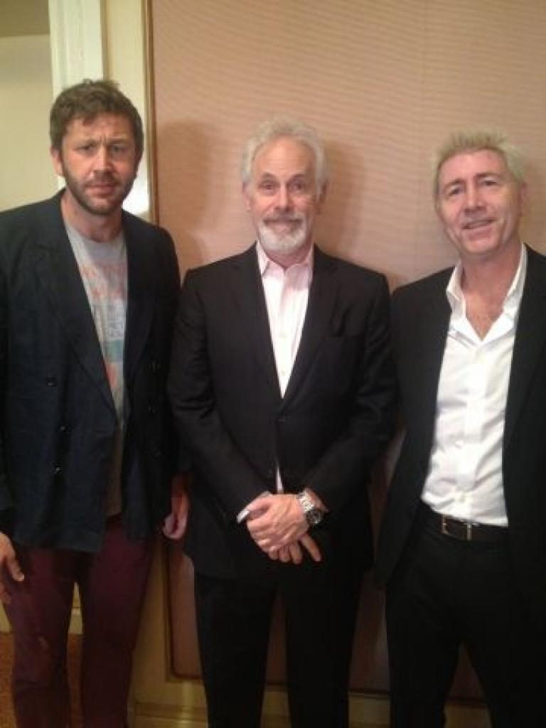 With Chris O'Dowd and Chris Guest at the TCA press junket for FAMILY TREE
