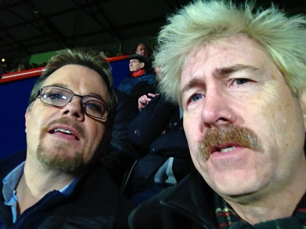 Watching Crystal Palace FC with Eddie Izzard