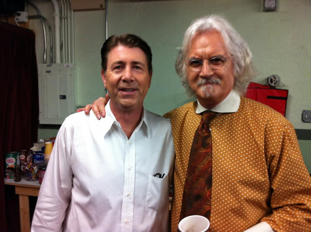 With Billy Connolly backstage before WHAT ABOUT DICK?