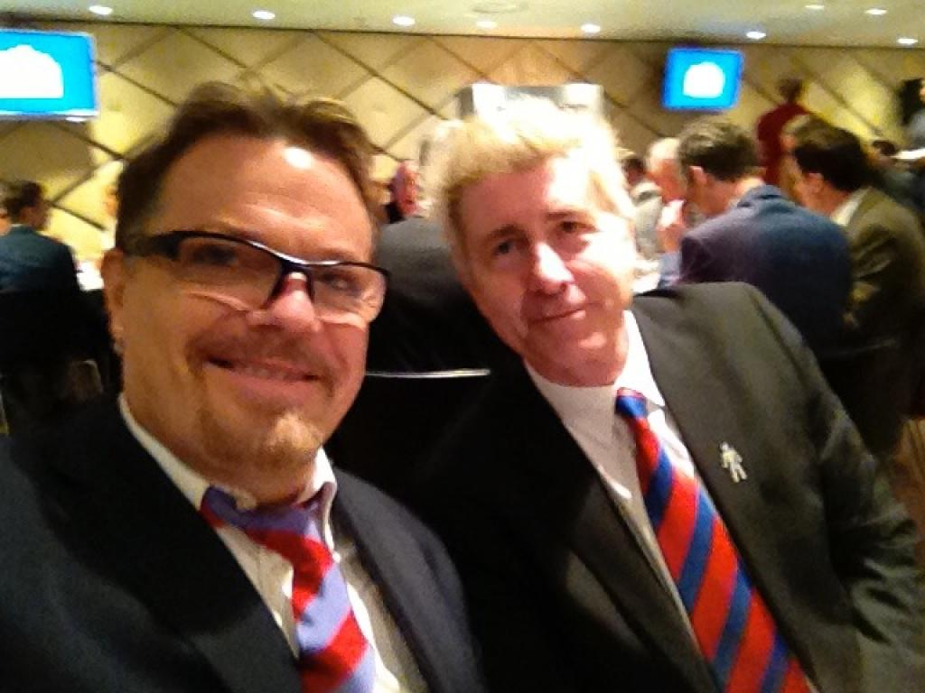 Lunch with Eddie Izzard at Wembley before the Play-Off Final