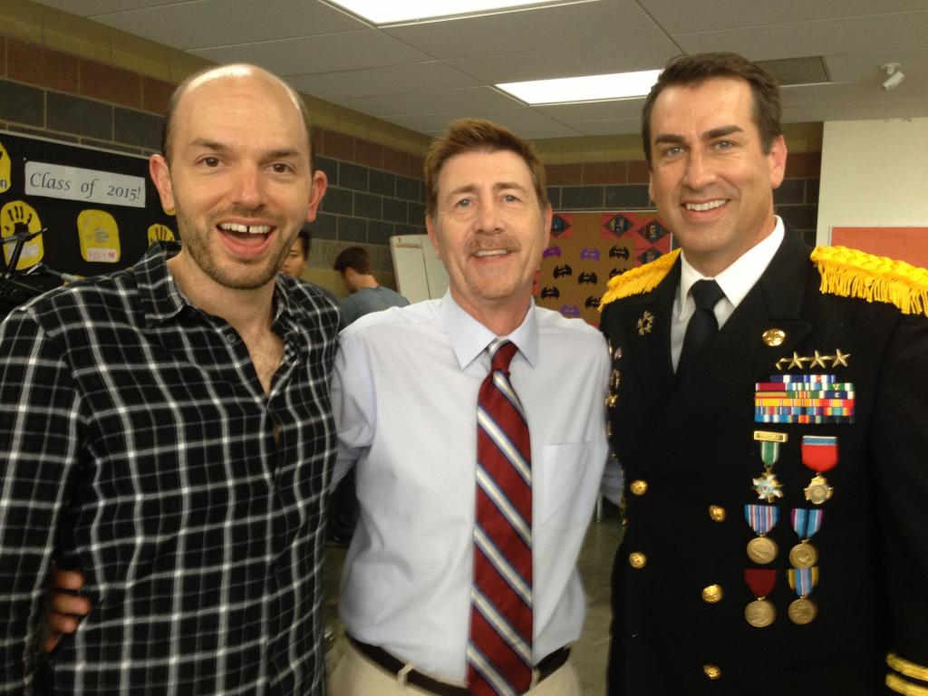 With Paul Scheer and Rob Riggle on the set of NTIS:SD:SUV