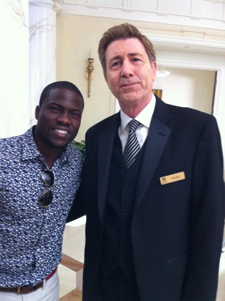 On the set of THINK LIKE A MAN TOO with Kevin Hart