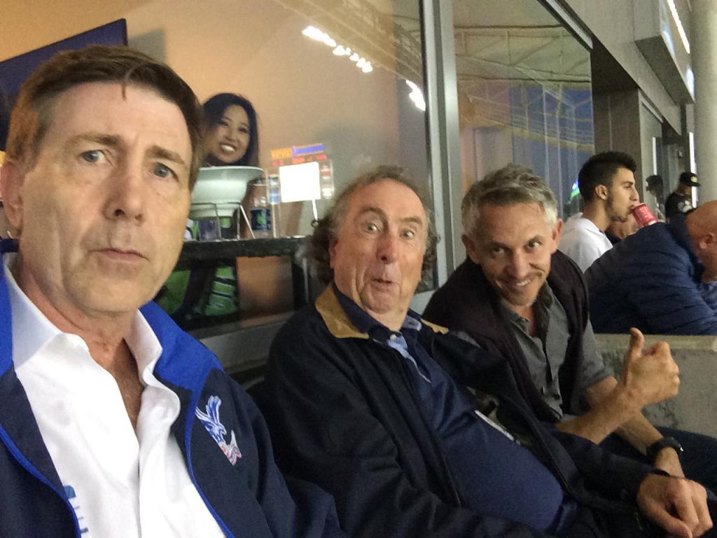 Watching the LA Galaxy with Eric Idle and Gary Lineker